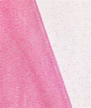 Bubblegum Pink Glitter Tulle Fabric