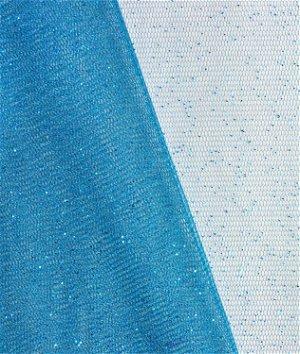 Chinese Aqua Glitter Tulle Fabric