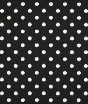 Premier Prints Ikat Dots Onyx/Natural Fabric