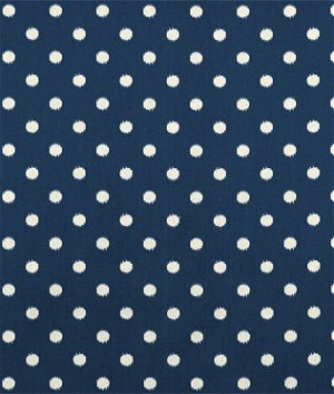 Premier Prints Ikat Dots Sunshine/Blue Natural Fabric