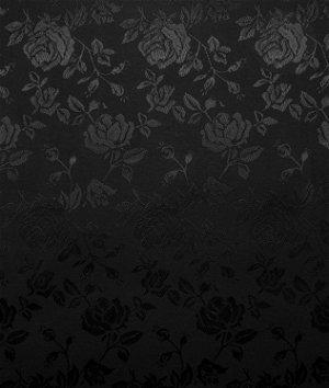 Black Jacquard Satin Fabric