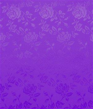 Purple Jacquard Satin Fabric