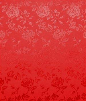 Red Jacquard Satin Fabric