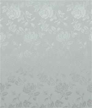 Silver Jacquard Satin Fabric