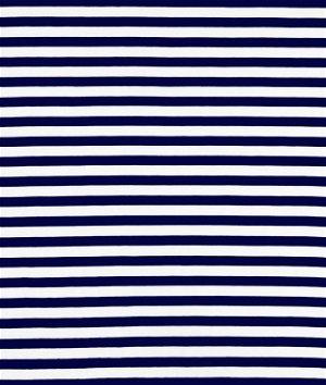Riley Blake Stripe Half Inch Navy Knit Fabric