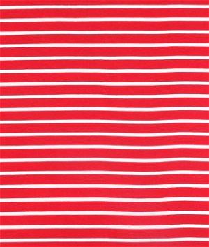 Riley Blake Stripe Quarter Inch Red Knit Fabric