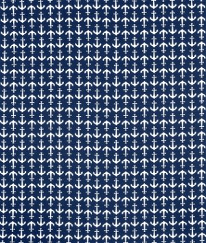 Riley Blake Holiday Anchors Blue Knit Fabric