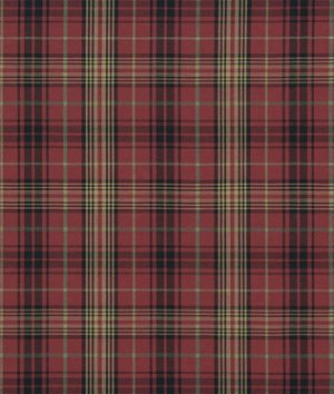Ralph Lauren Kensington Tartan Burgundy Fabric