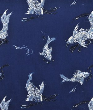 Ralph Lauren Koi Indigo Fabric