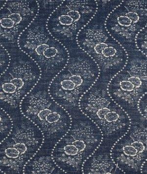 ralph lauren etienne floral stripe indigo fabric - Ralph Lauren Indigo