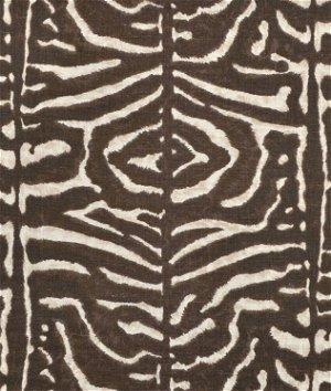 Ralph Lauren Serengeti Linen Zebra Mahogany Fabric