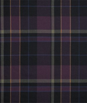 Ralph Lauren Glen Coe Plaid Plum Fabric