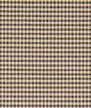 Covington Linley Gingham Black Tan Fabric
