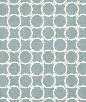 Premier Prints Linked Saffron Grey Macon Fabric