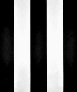 Black/White Wide Stripe Matte Satin Fabric