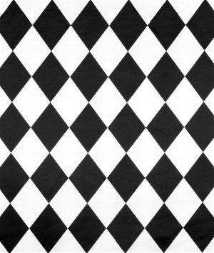 White/Black Harlequin Matte Satin Fabric