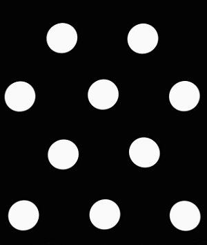 White Black Polka Dot Matte Satin Fabric