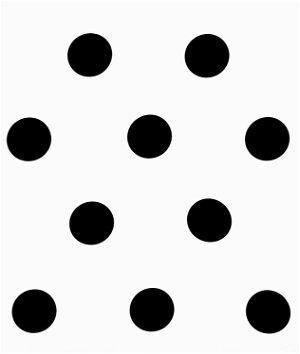 Black/White Polka Dot Matte Satin Fabric