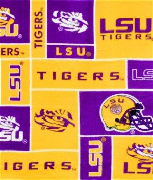 Louisiana State Tigers Allover NCAA Fleece Fabric