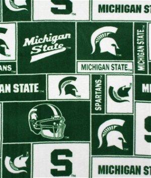 Michigan State Spartans Allover NCAA Fleece Fabric