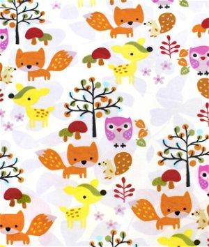White Foxy Minky Fabric