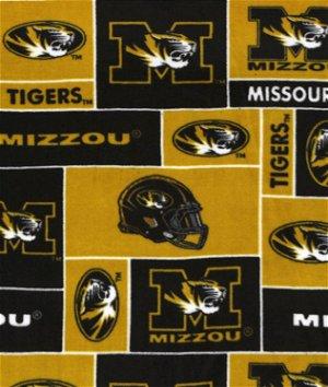 Missouri Tigers Allover NCAA Fleece Fabric