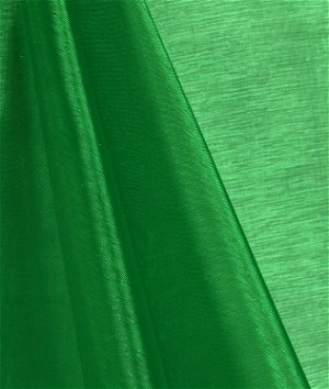 Flag Green Mirror Organza Fabric