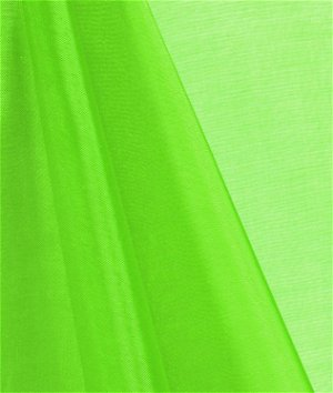 Neon Green Mirror Organza Fabric