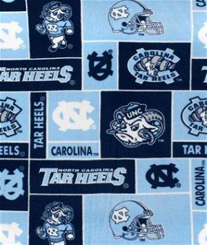 North Carolina Tar Heels Allover NCAA Fleece Fabric