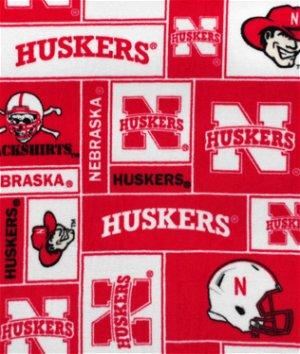 Nebraska Cornhuskers Allover NCAA Fleece Fabric