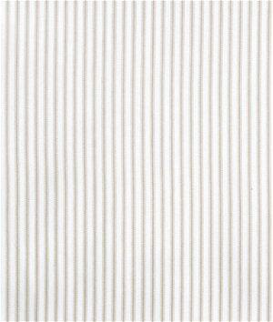 Covington New Woven Ticking Seashell Fabric