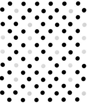 Black/Silver Confetti Oilcloth Fabric