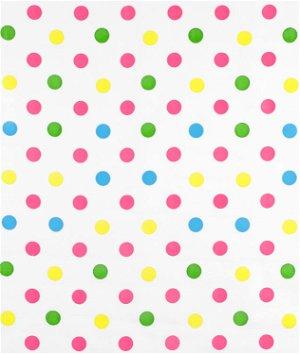 Pink Confetti Oilcloth Fabric