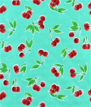 Aqua Stella Oilcloth Fabric