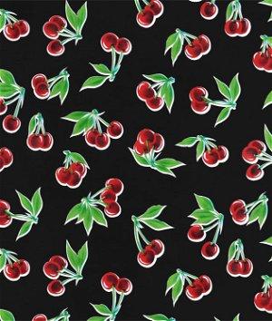 Black Stella Oilcloth Fabric