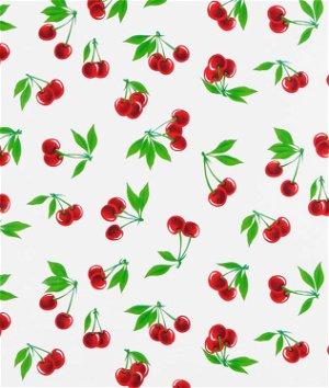 White Stella Oilcloth Fabric