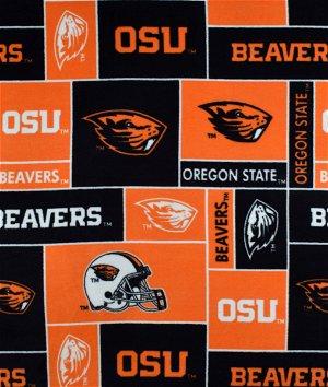 Oregon State Beavers Allover NCAA Fleece Fabric