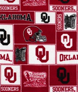 Oklahoma Sooners Allover NCAA Fleece Fabric