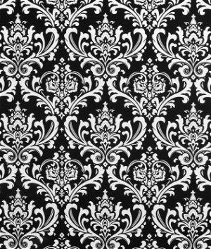 Premier Prints Ozbourne Black Fabric