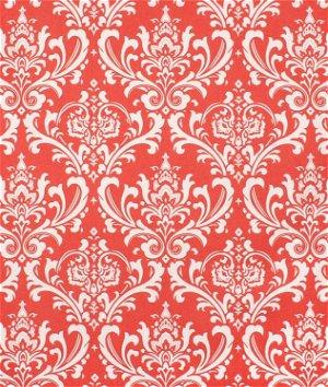 Premier Prints Ozbourne Coral/White Fabric