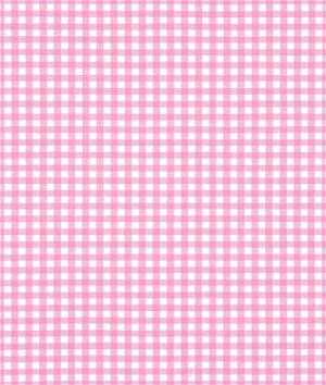 """Robert Kaufman 1/8"""" Candy Pink Carolina Gingham Fabric"""