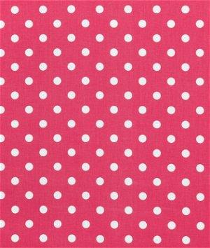 Premier Prints Polka Dot Candy Pink/White Fabric