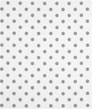 Premier Prints Polka Dot White/Storm Twill Fabric