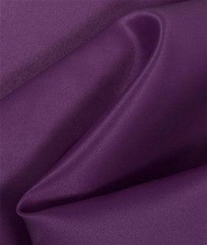 Plum Matte Satin (Peau de Soie) Fabric