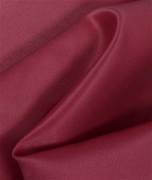 Burgundy Matte Satin (Peau de Soie) Fabric
