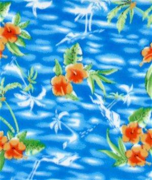Blue Tropical Fleece Fabric