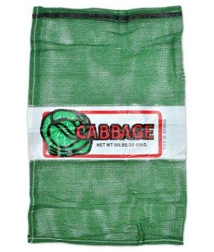 22 x 36 Cabbage Mesh Polypropylene Bag - Green