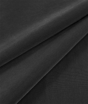 Black Peachskin Fabric
