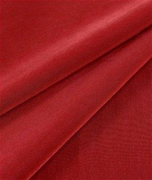 Red Peachskin Fabric