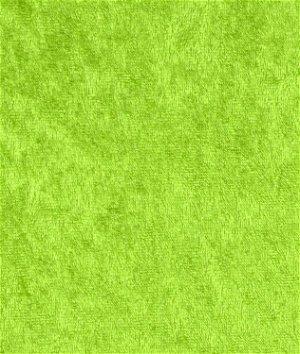 Lime Green Panne Velvet Fabric